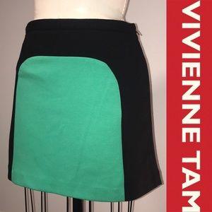 VIVIENNE TAM NWT Black & Green Block Mini Skirt
